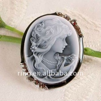 New Cameo Pin Brooch picture frame pendants