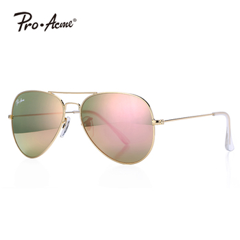 2e3ae3db24e72 Pro Acme Small mirror Glass lens pilot Sunglasses for Adult Small Face and  Junior OUT DOOR