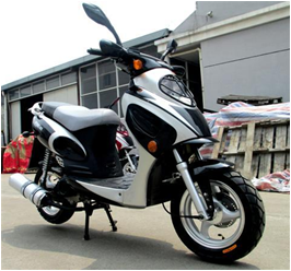 High quality EEC 50cc gas moped scooter NM50QT-8