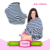 5 in 1 stretchy infant baby carseat canopy breastfeeding nursing carseat canopy cover