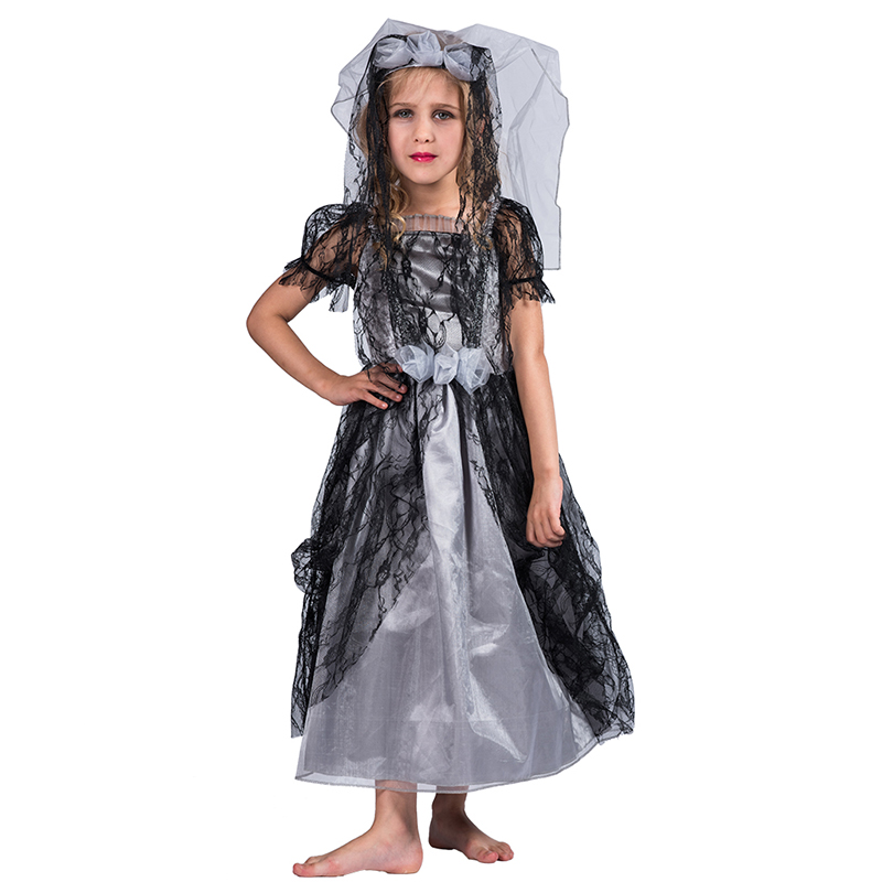 Halloween Costumes For Kids Girls Zombie.Halloween Party Fancy Dress Kids Girls Gothic Zombie Bride Cosplay Costume For Children Buy A Child Bride Costume Kids Bride Costume Bride Zombie