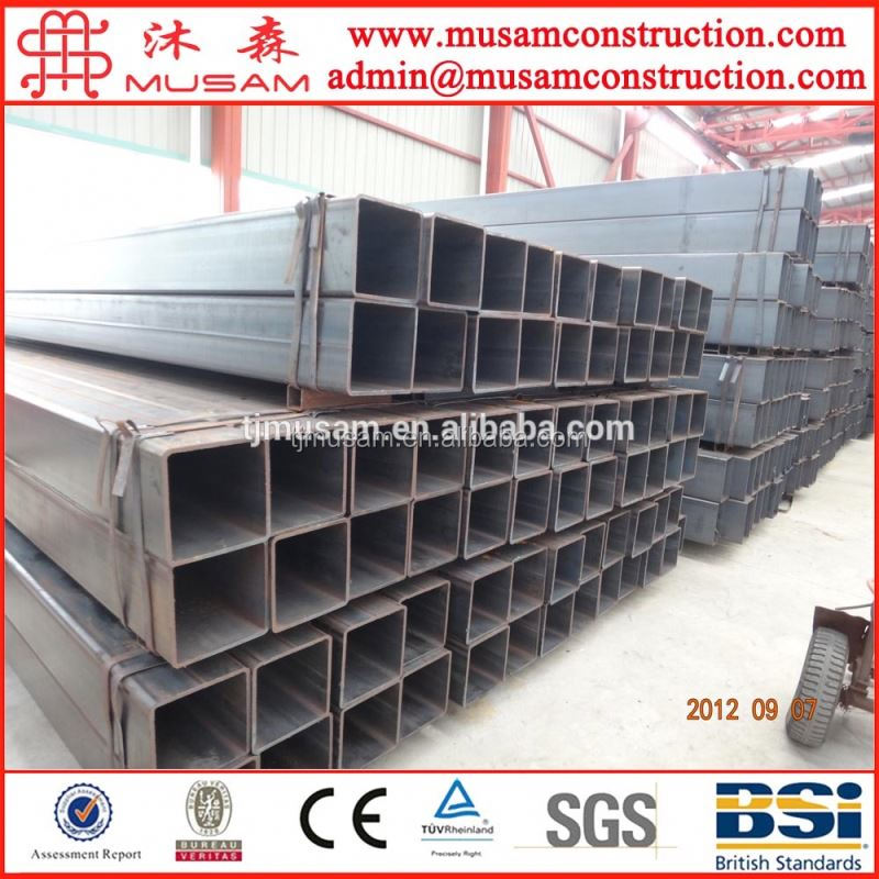Bs en 10219 carbon welded steel square pipe