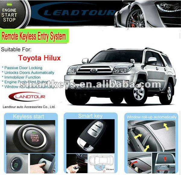 Car Alarm For Toyota Vigo Passive Keyless Entry System - Buy Car ...