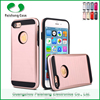 guangzhou phone case for iphone 7 with pc & tpu Brushed combo mobile phone case