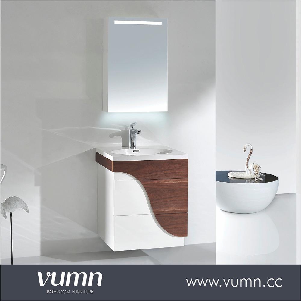 Factory Price Modern Style Oak Wood Bathroom Vanity Mirror Cabinet