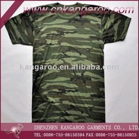 Men's 100% cotton camouflage army t shirts with short sleeve