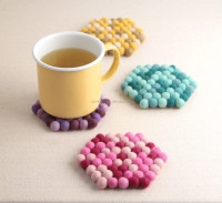 Decoration Wool Dryer Ball Cup Mat