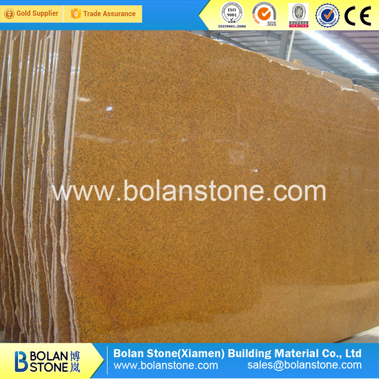 Fantasy yellow granite slab big polished slabs best quality best prices for sale
