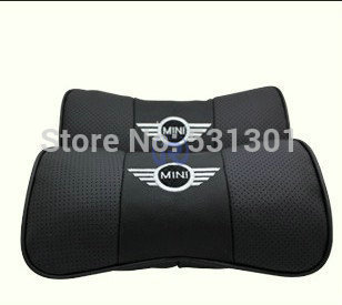 Genuine Leather Headrest Neck Pillow Car Auto Seat Cover