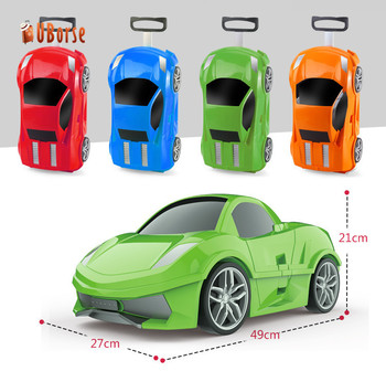 f14368bbb614 Children Rolling Trolley Car Shape Design Kids Luggage Travel Trolley Luggage  Bag