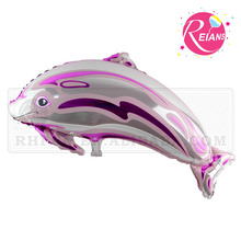Reians aluminium custom foil animal gift balloon Dolphin hard plastic balloon decoration party supplies baloon (Accept OEM,ODM)