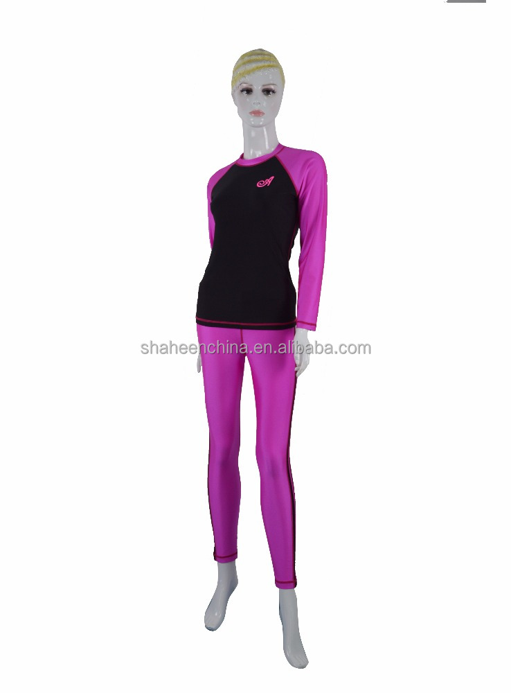 Personlized Design And Logo Lycra Woman Long Sleeve Yoga Shirt