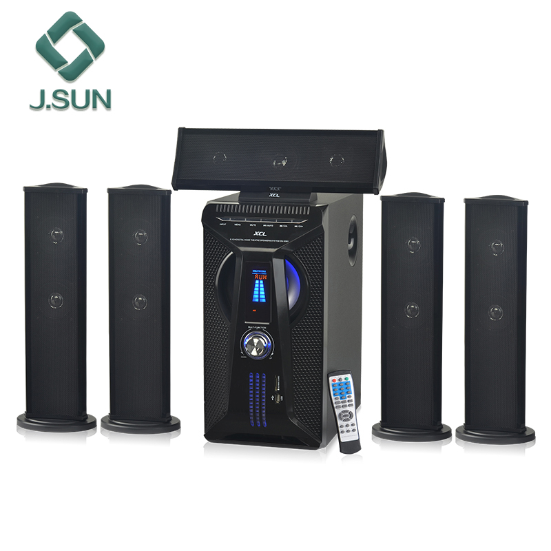 Professional 5.1 home theater receiver and speakers