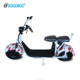 2018 Hot electro scooter 1000w/1500w 60v 2 seat mobility scooter citycoco electric scooter for adults