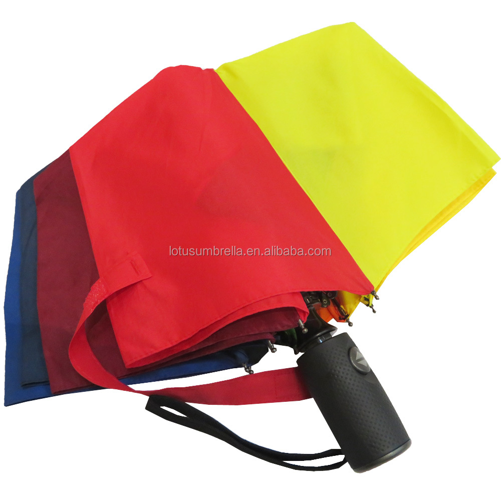 Rainbow double layer fold canopy umbrella