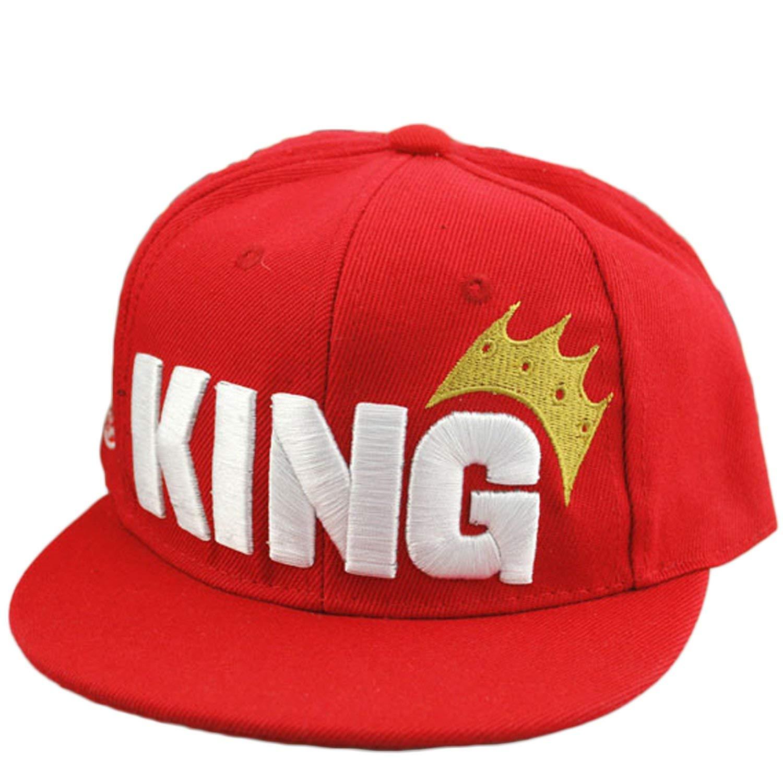 6419fc4d7c4 Get Quotations · Infant   Toddler Hip Hop Snapback Flat Brim Hats Letter  King Baseball Cap for Kids Girls
