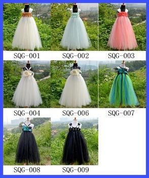 Flower Fairy Baby Tutu Dress Set Kids Casual 2 Layers Tulle Tutus Wedding Dresses