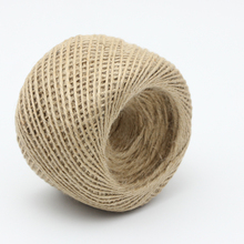 Factory Wholesale Packaging Rope 100yard/roll Natural Twisted Jute Sisal Yarn Hemp Rope