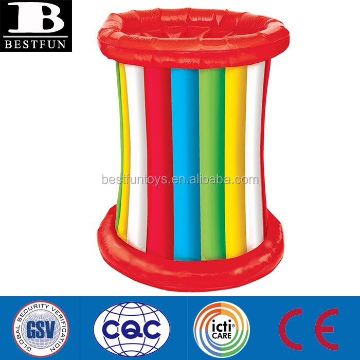 China Supplier Rainbow Inflatable Coolers Plastic Ice Bucket Beer ...