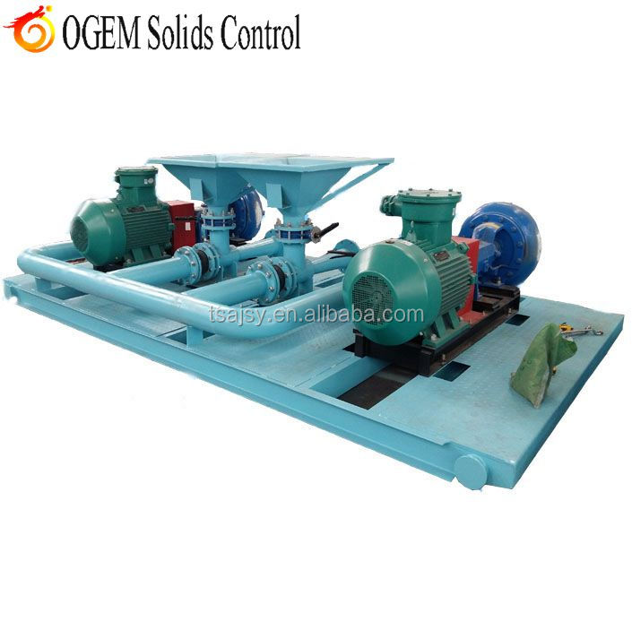 Drilling fluid solids control mud jet mixing system