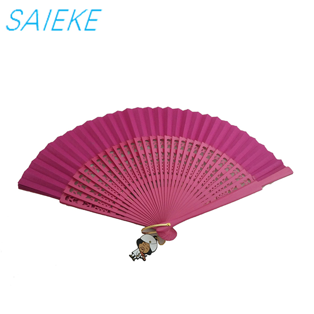 Brand wholesale boutique shaped Spanish style wooden crafts hand fan
