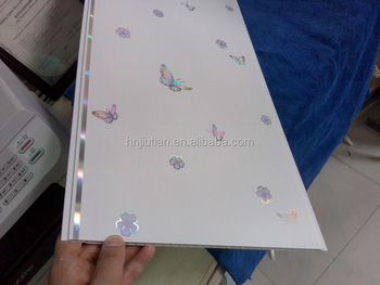 Butterfly Laser Pvc Ceiling Design China Supplier Width 30cm