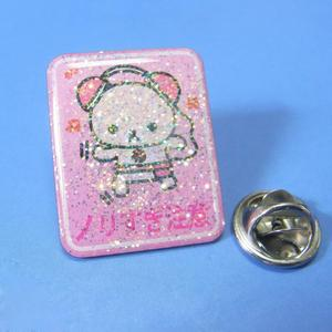 custom resin epoxy dome square glitter stainless steel badge