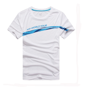 Made in China 100% cotton T-shirt / blue and white models