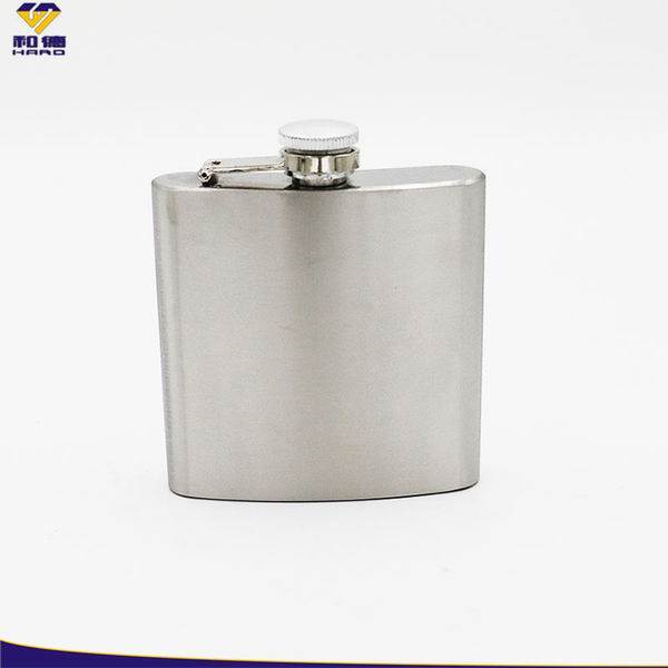 6 oz Stainless Steel Flask - White box