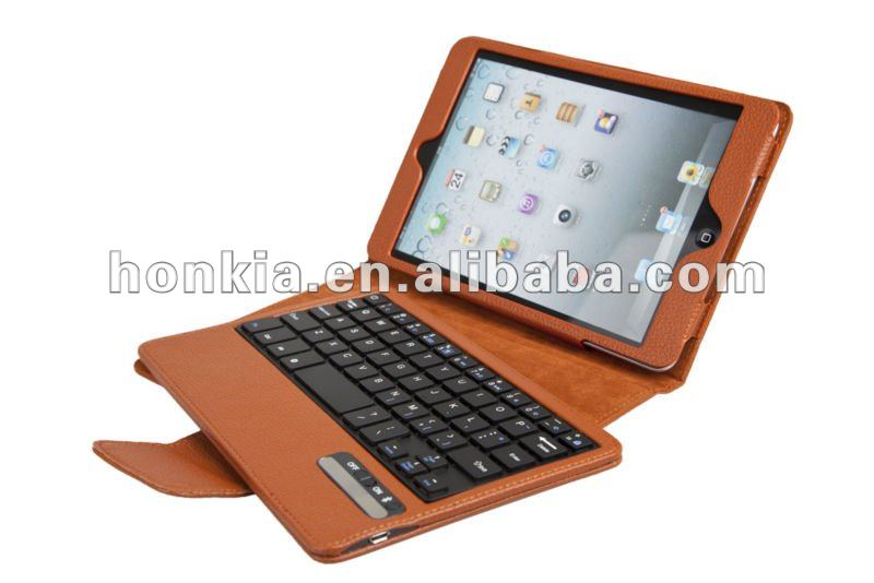 Newest Detachable Bluetooth Keyboard with Foilo Case for ipad mini and laptop