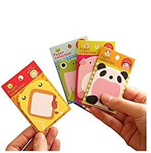 Mily Lovely Cute Cartoon Sticky Note Self-stick Note Pack of 8, 20 Sheets per Pack