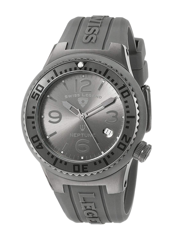Swiss Legend Unisex 11044P-GM-018B-WC Neptune Analog Display Swiss Quartz Grey Watch