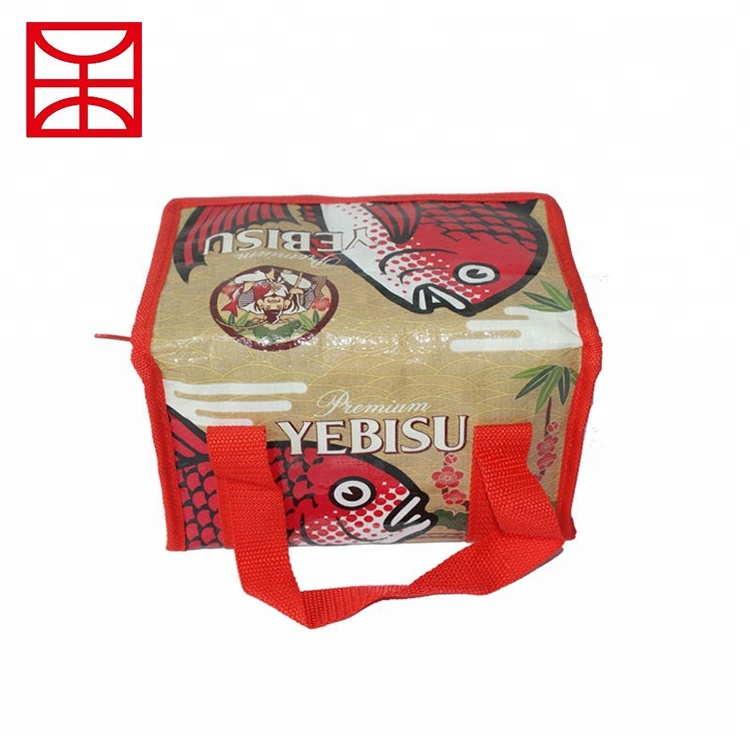 Custom Promotional PP woven water dust proof eco friendly food carrying lunch bag