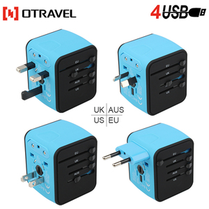 shenzhen electronic international creative gifts SL-199-4U travel smart all in one adapter plug with surge protection