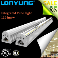 High Beam angle 8 foot 44w t8 led tube light fixtures with single pin