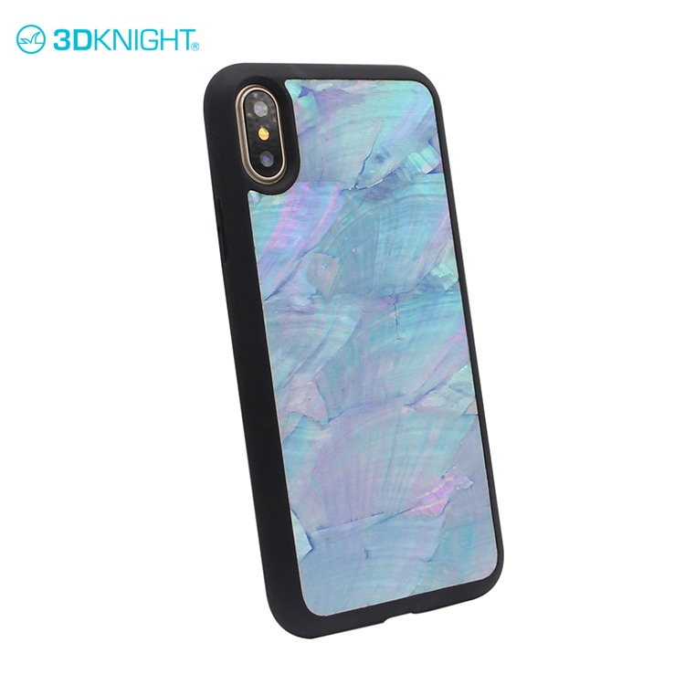 Blue Seashell cover ultra potrettive slim case for iphone 8 x custom handy cover case