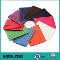 Place RFID Blocking Leather Slim wallet Credit Card Holder name Id Card Case Holder