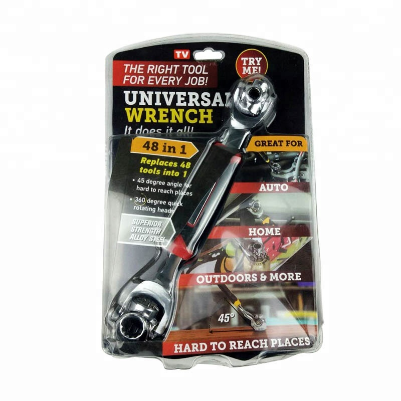 48 in 1 Tiger Wrench with Rotation Heads Socket Universal Wrench