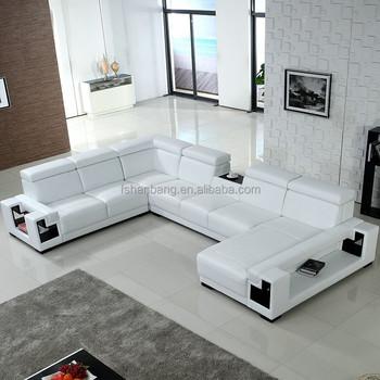 Leren Bank Wit.Goedkope Woonkamer Meubels Zwart En Wit Lederen Sofa Buy Lederen