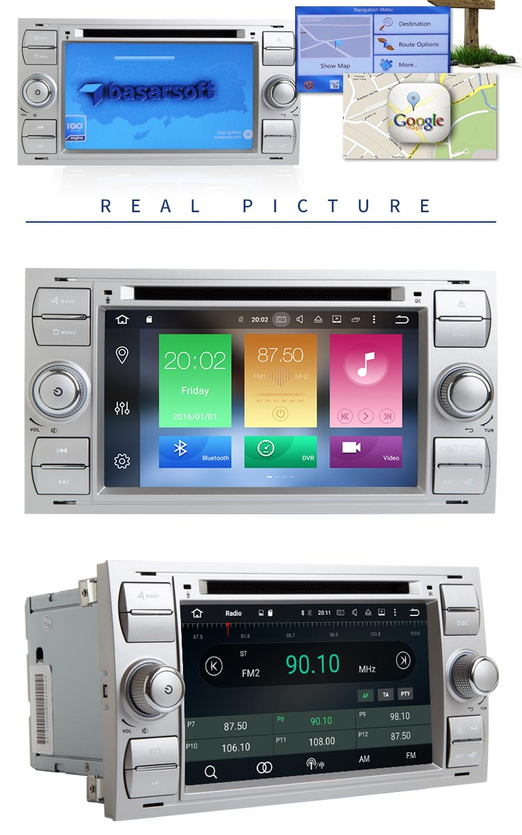 Android 8.0 HD touch screen Car DVD Player for Ford FOCUS Mondeo S-MAX C-MAX Galaxy Fusion