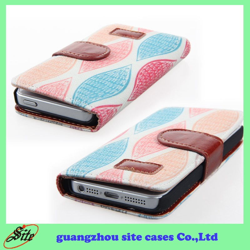 Phone accessory,Leather skin case for Apple iphone 5C