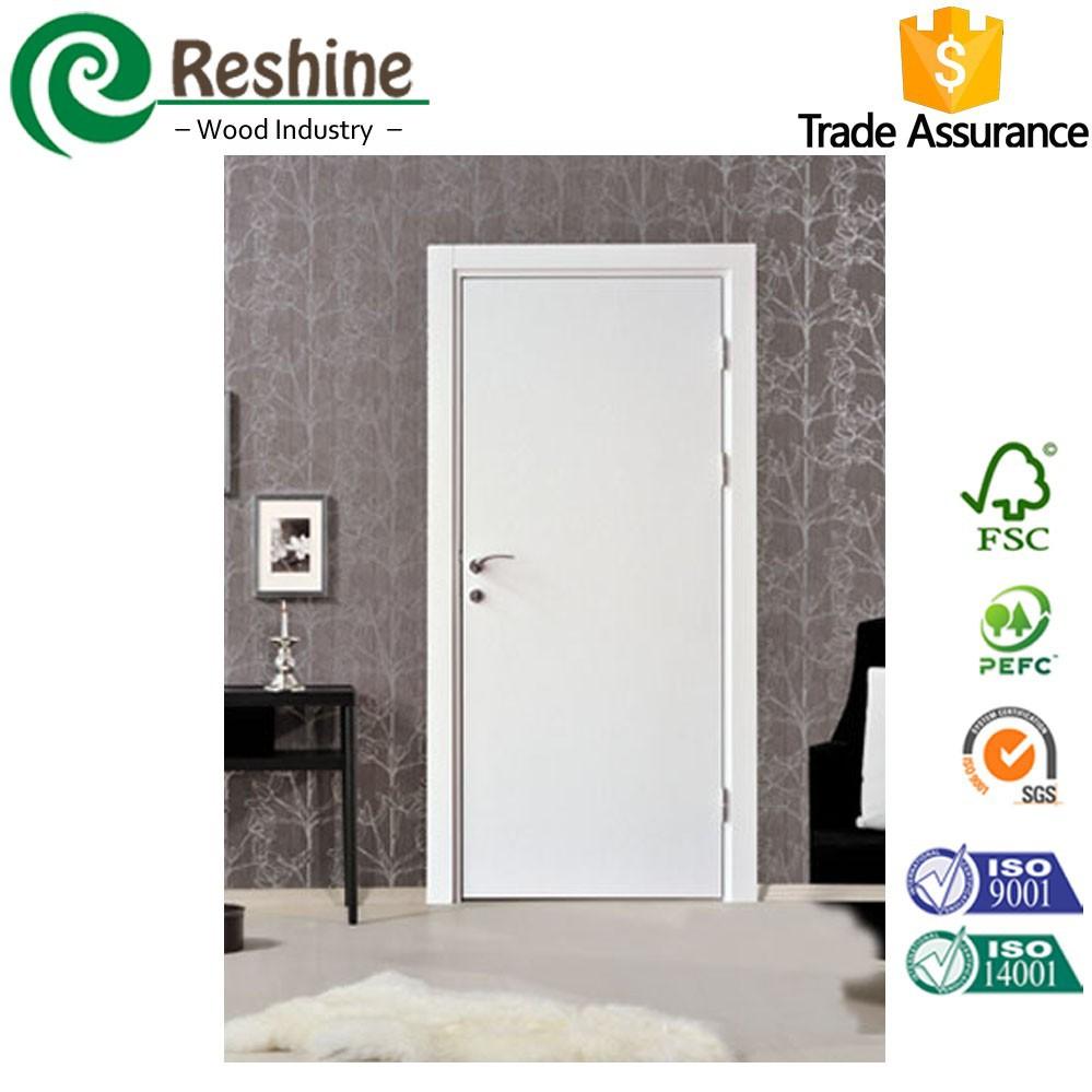 Appr t blanc moul hdf porte de la chambre de bois portes Porte de chambre bois