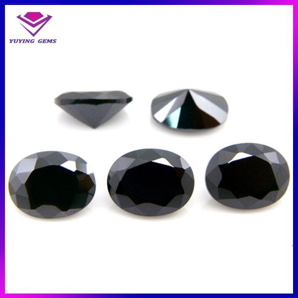 Amato di alta qualità sciolto cz pietra nera nomi di pietre preziose per  WE08