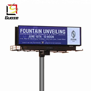 Outdoor Video LED Display Screen with Pole Advertising Billboard Price on Road/Park/Plaza