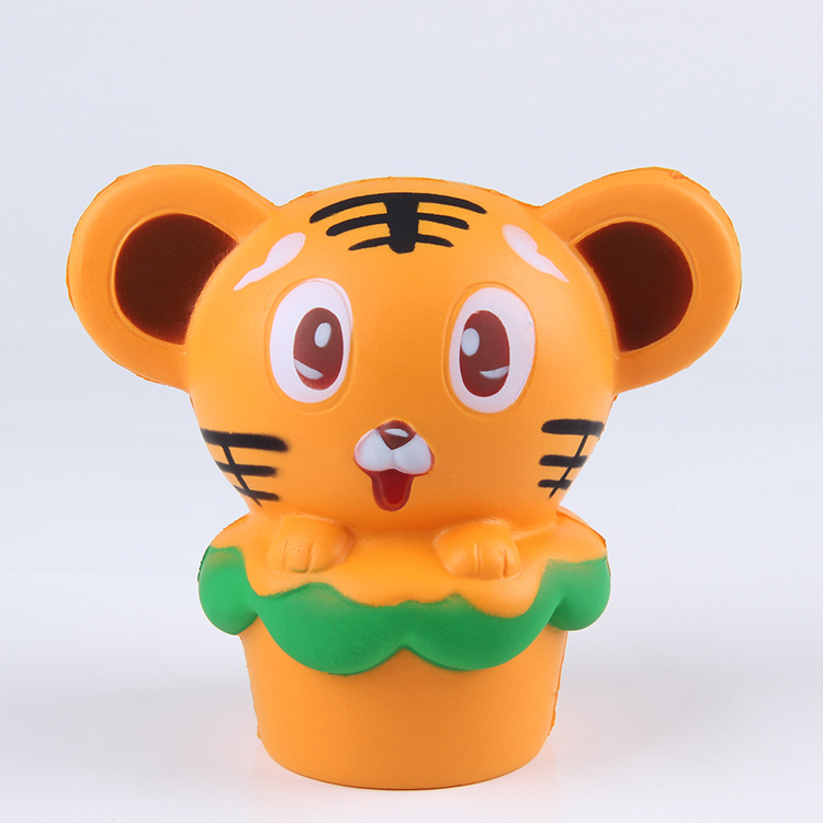 Soft tiger slow rising squishy scented make squishy custom vinyl toys animal series for <strong>kids</strong>