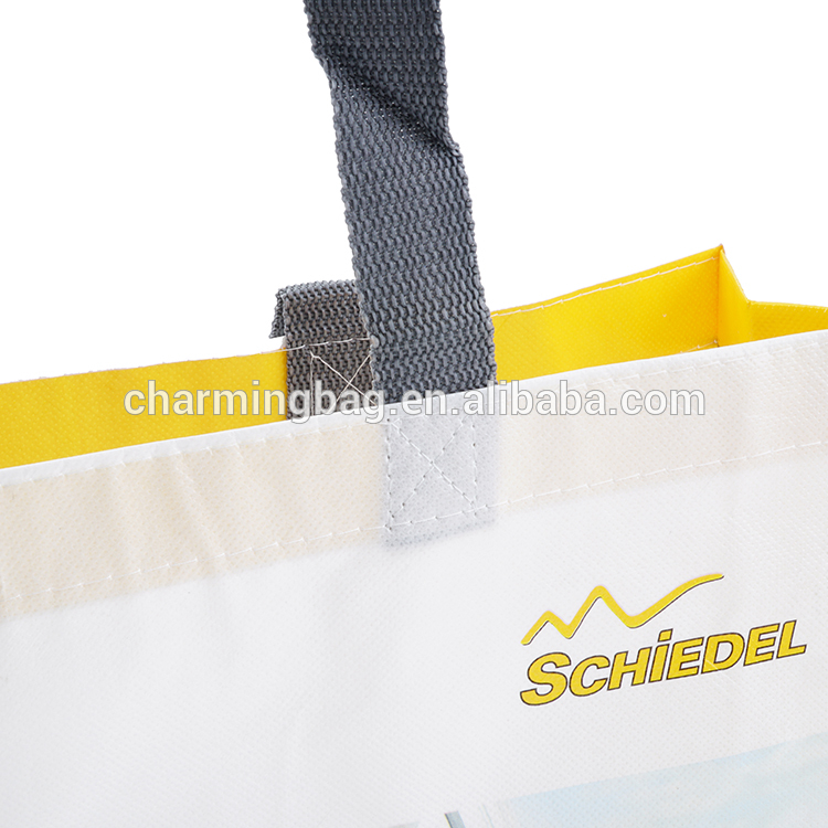 Promotion custom logo design PP non woven shopping tote bags