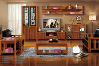 2014 Hot sale modern tv wall units was made from solid wood and E1 MDF board for living room furniture sets
