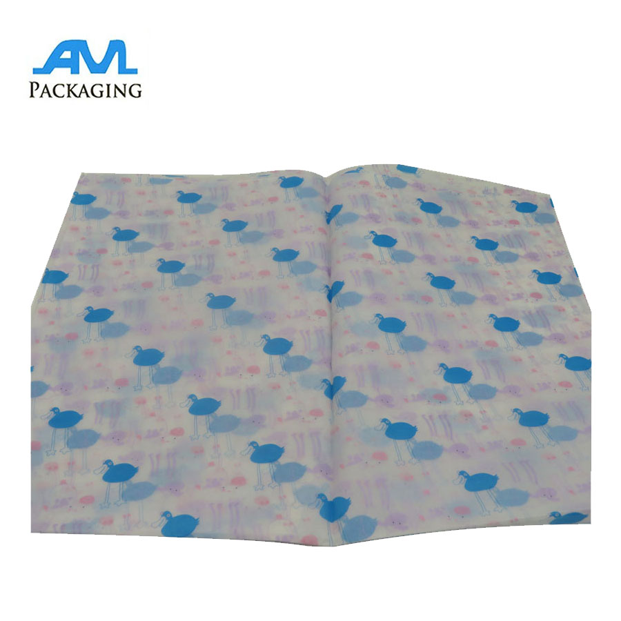 OEM custom recycled cheap printed tissue paper for wrapping
