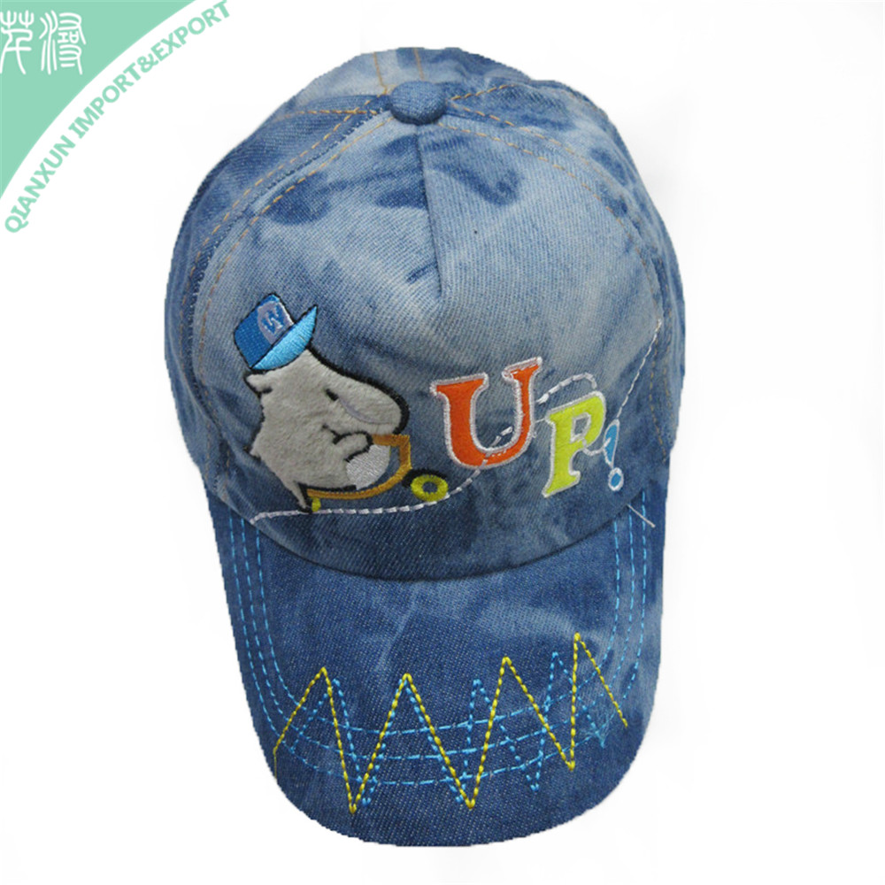 HT-116901 Super Quality Blue Polyester Cotton Baseball Cap &Hats with Pattern Logo