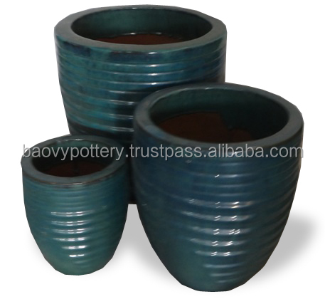 Tall Large Glazed Outdoor Ceramic Garden PotsVietnam Large Glazed